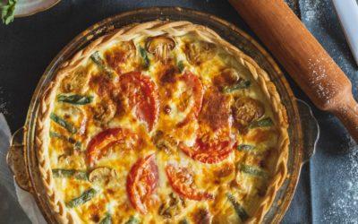 Mangold-Feta-Tomaten Quiche