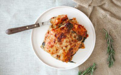Mediterrane Mangold-Lasagne mit saftiger Bechamelsoße