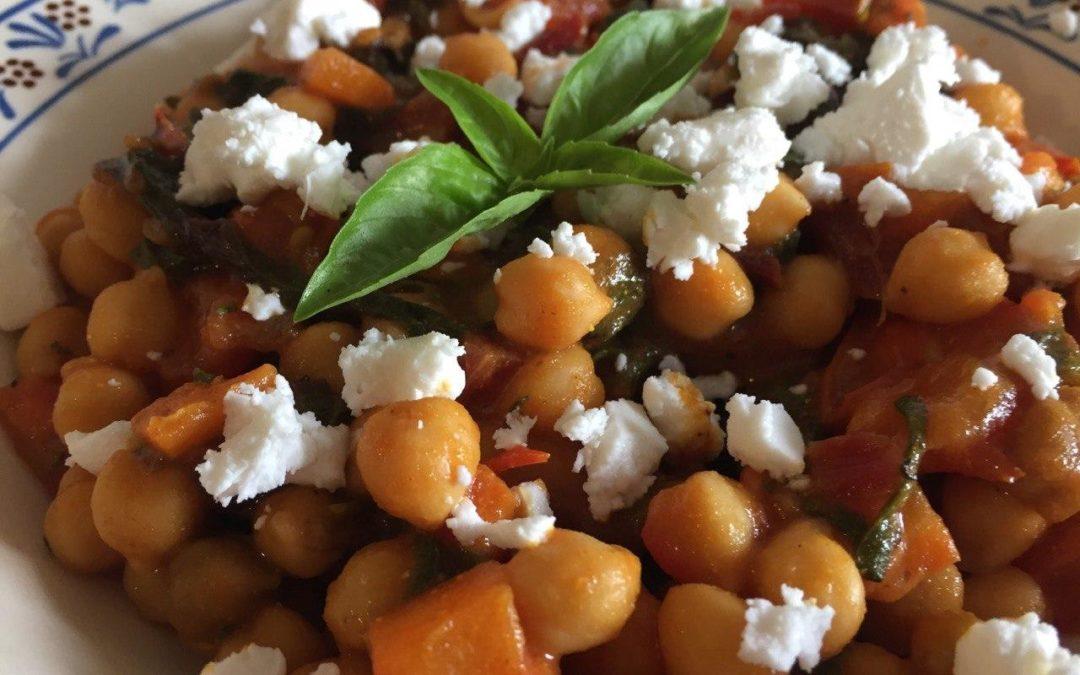 Kichererbsen-Curry mit Mangold und Tomaten