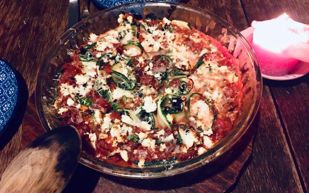 Zucchini-Canneloni mit Ricotta-Spinat-Füllung