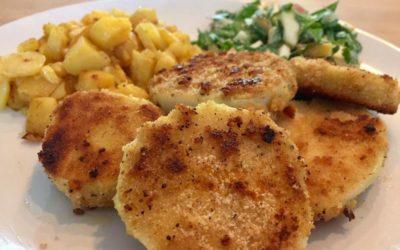 low carb Kohlrabischnitzel- vegetarische Schnitzelvariante