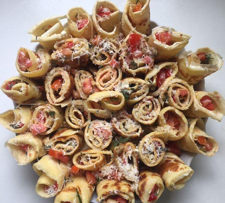 Überbackene Pfannkuchenröllchen