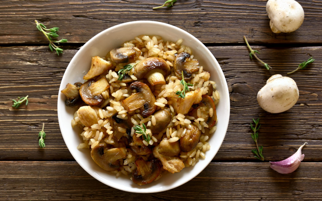 Köstliches Pilzrisotto- cremiges Wohlfühlessen