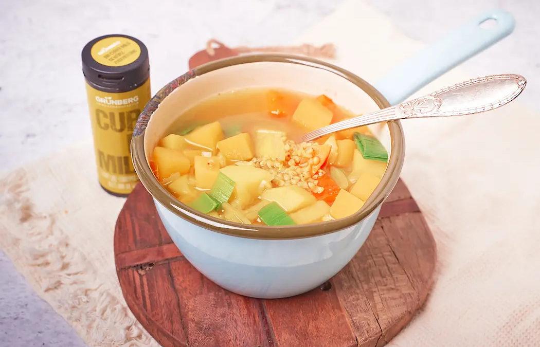 Einfacher Steckrübeneintopf mit Curry