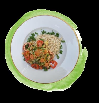 Gemüse-Reis-Pfanne