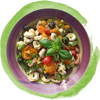 Tortellini mit Pesto & frischen Tomaten